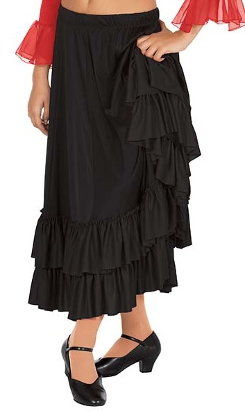 Children's Double Ruffle Flamenco Skirt