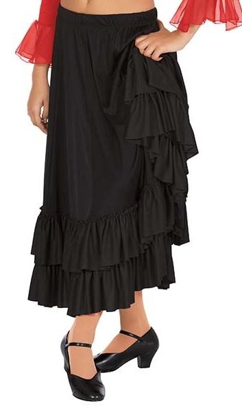 Adult Double Ruffle Flamenco Skirt