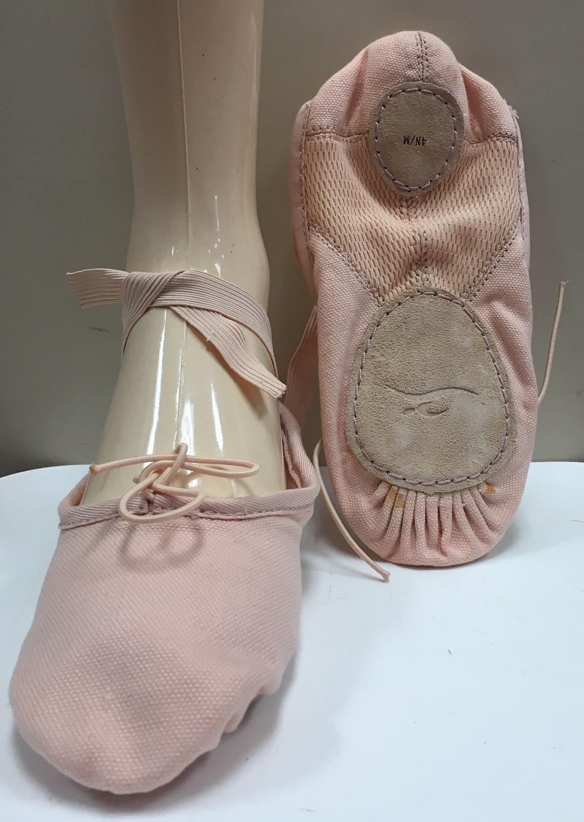 Motionwear Children's Canvas Upper Split Leather Sole Ballet Shoes