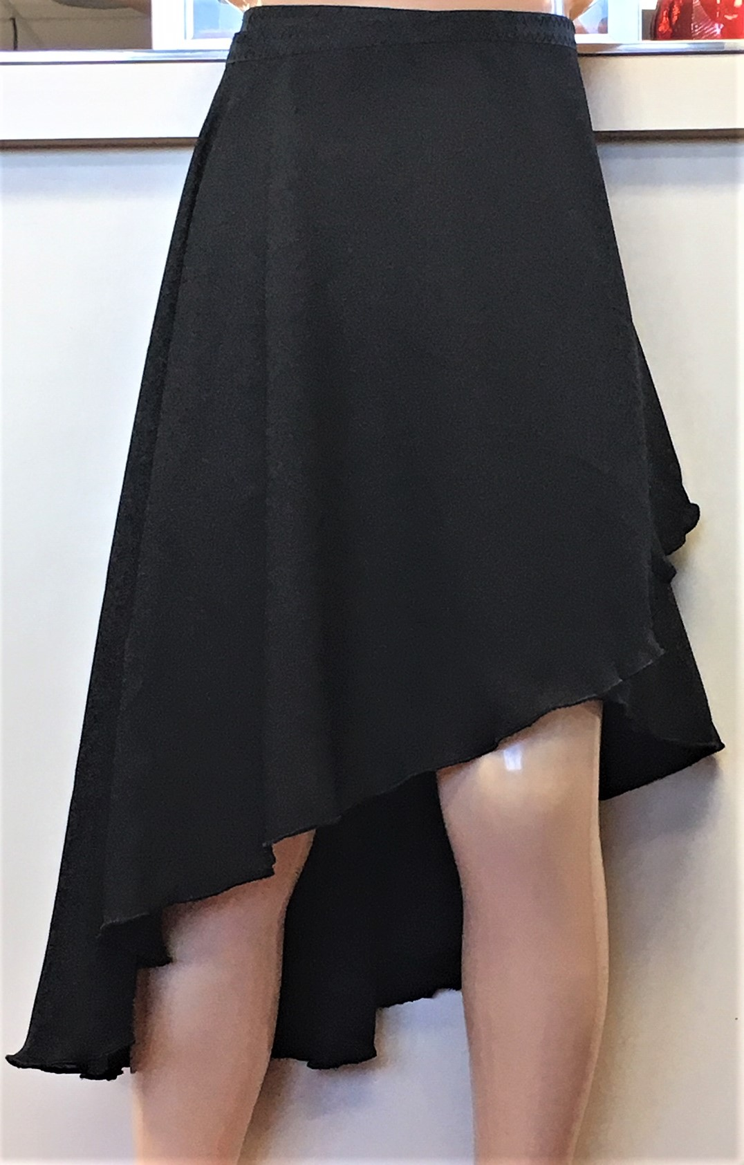 M. Stevens Long Wrap Chiffon Skirt