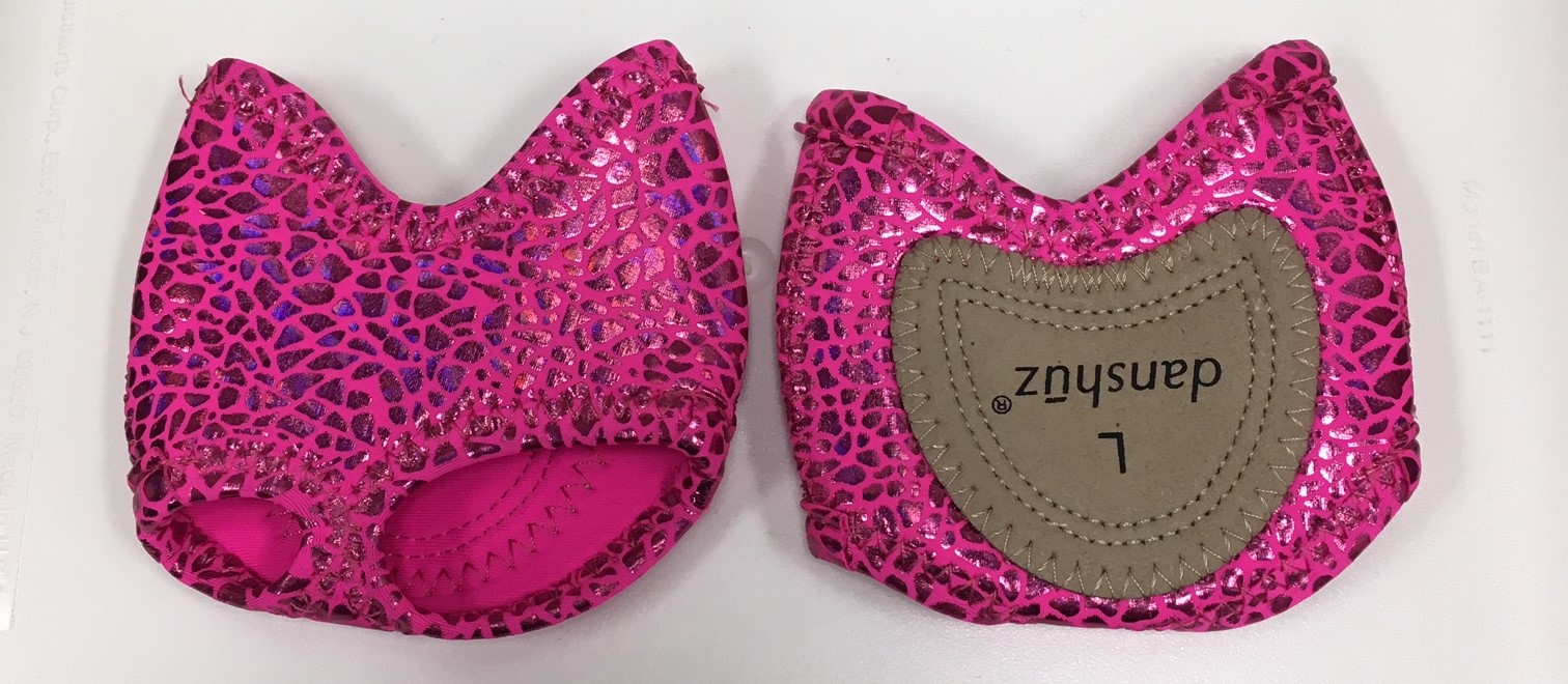 Danshuz Neoprene Half Sole Lyrical Shoes with Sparkle Print and Suede Sole