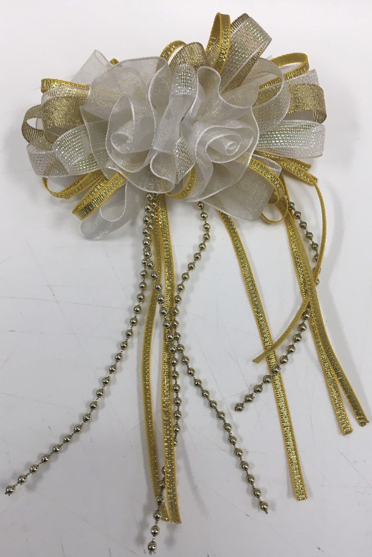 Barry's Head Piece with Metallic Bows and Streamers