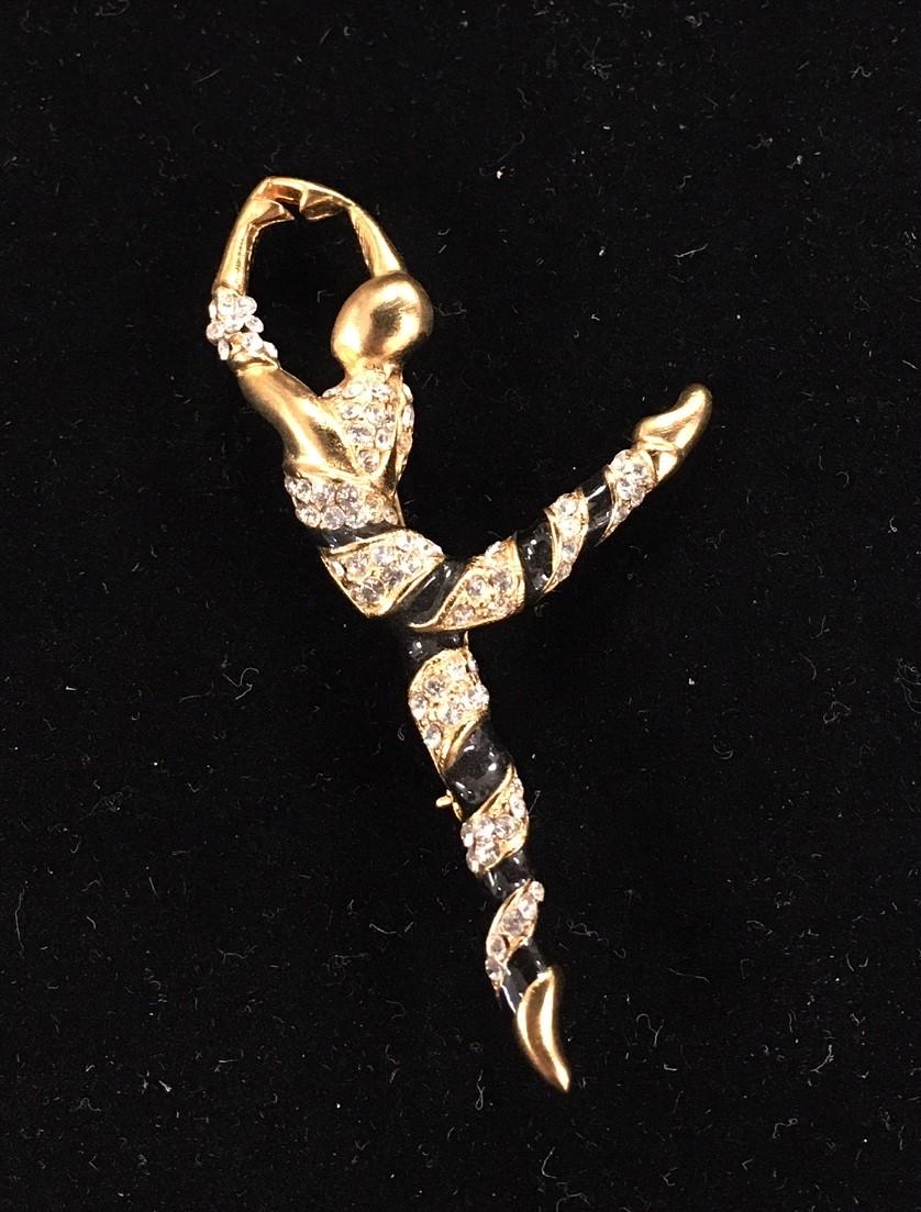 Barry's Enamel Ribbon Dance Pin