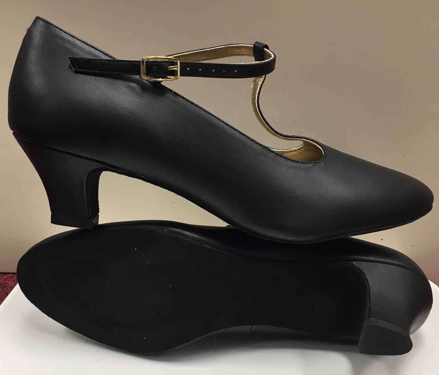 """Capezio 1.5"""" Heel Classic T- Strap Ballroom Shoe"""