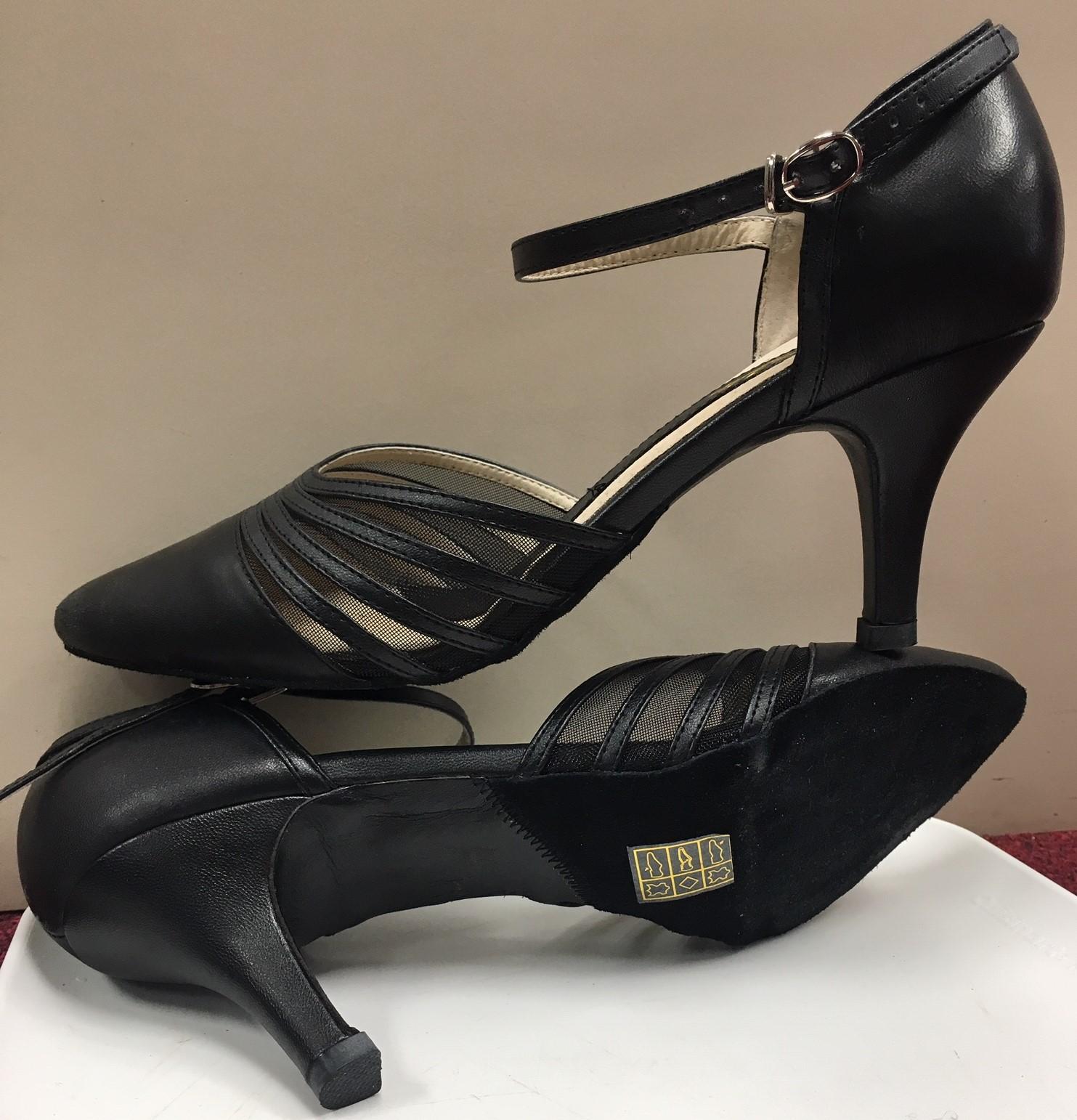 Capezio Women's Alexa 2 1/2 Inch Closed Toe Ankle Strap Ballroom Shoes