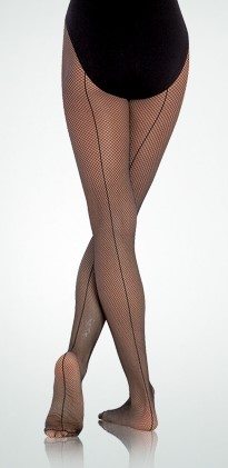 Bodywrappers Seamed Footed Child Fishnets