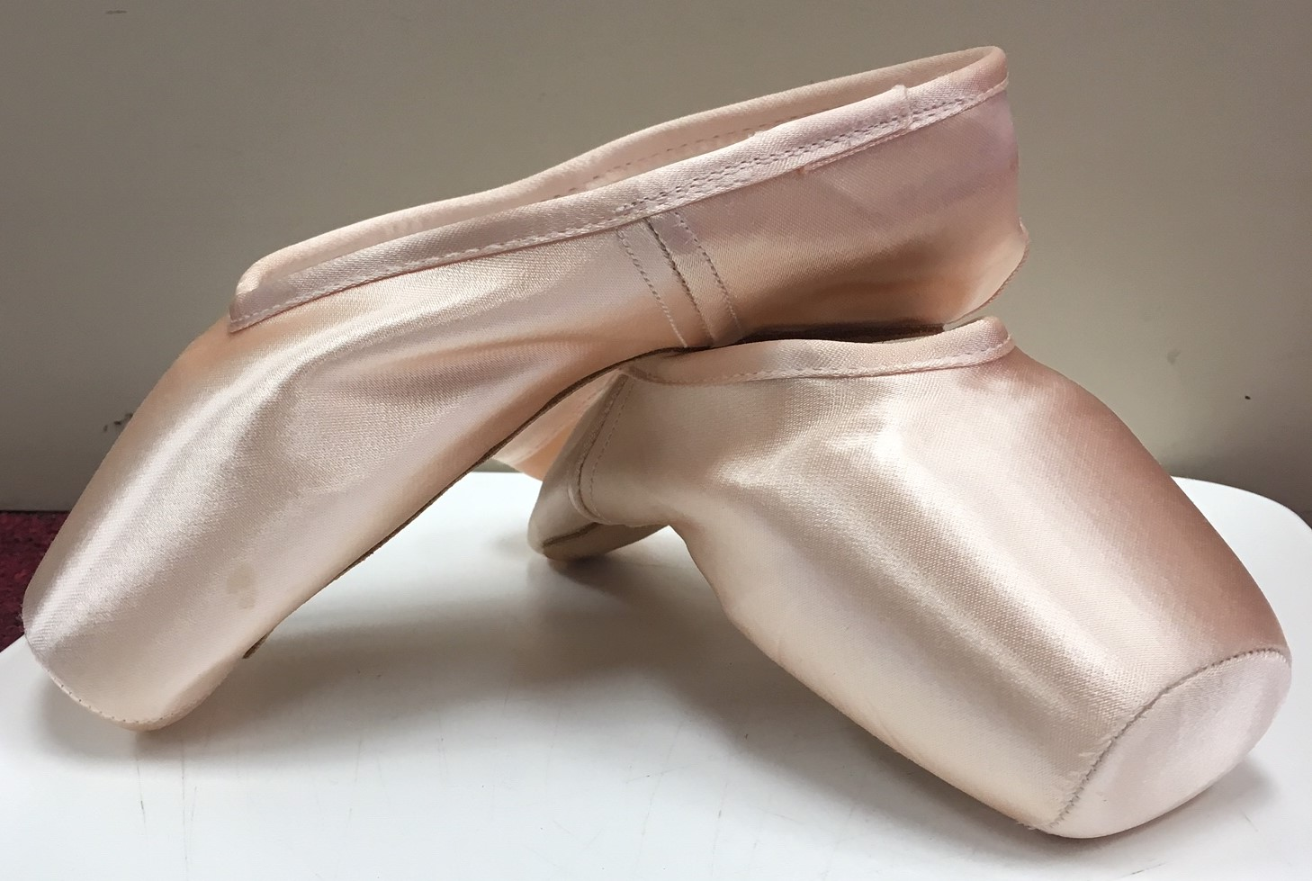 Gaynor Minden Pointe Shoes with Wide Box and Hard Shank. With Deep Vamp and High Heel