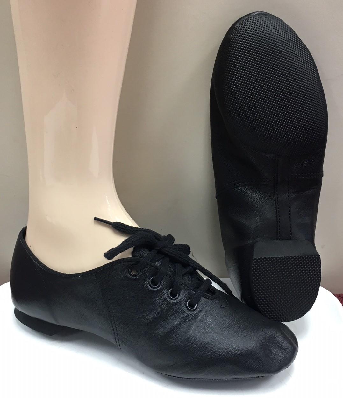 Dance Class Children's Lace Up Jazz Shoes with Split Rubber Sole