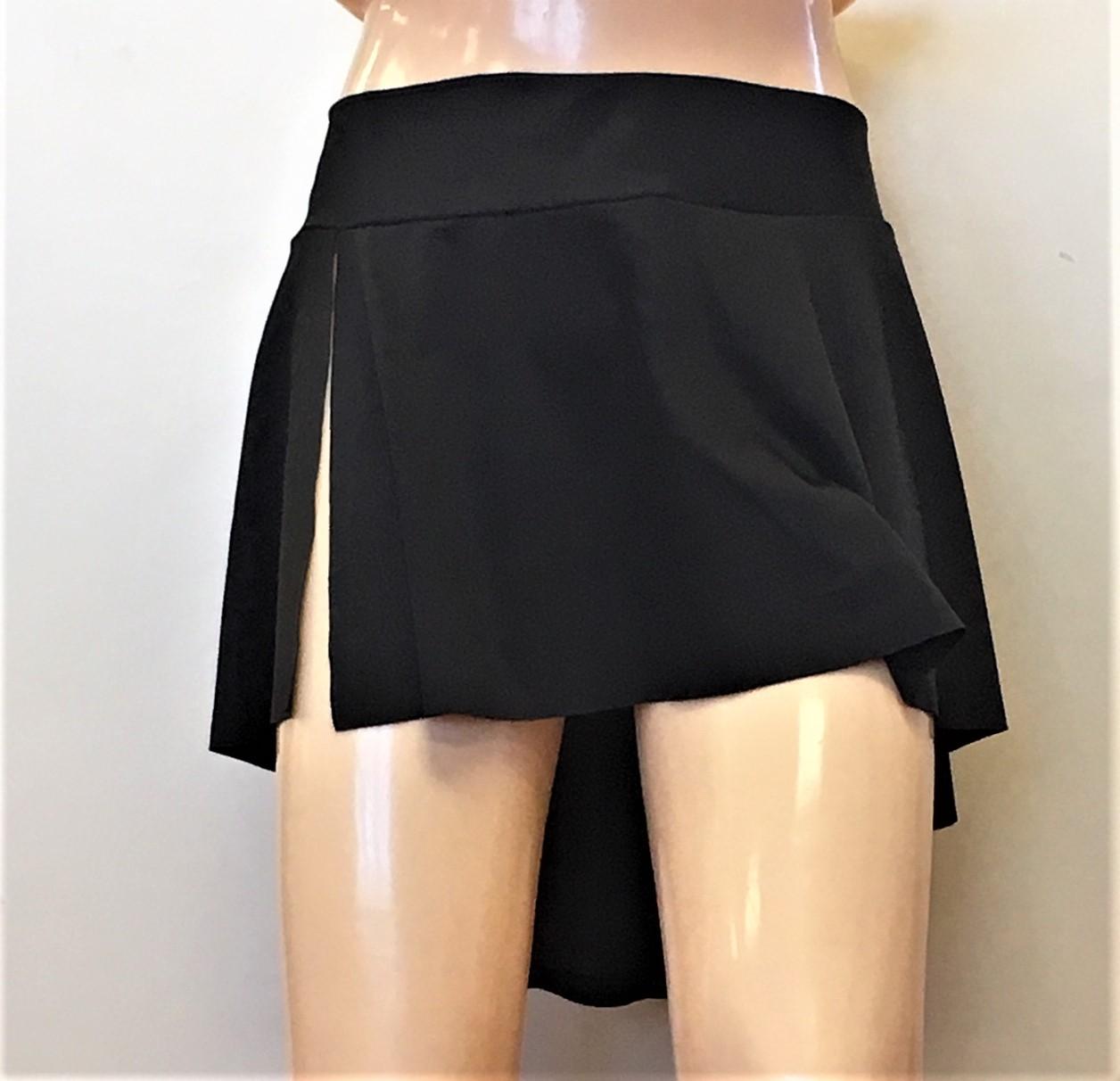 Mirella Women's Side Slit Circular Hip Skirt