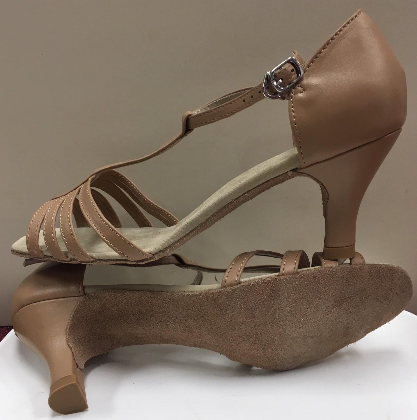 Di Michi Kiki Strappy Open Toe T-Strap Ballroom Shoes